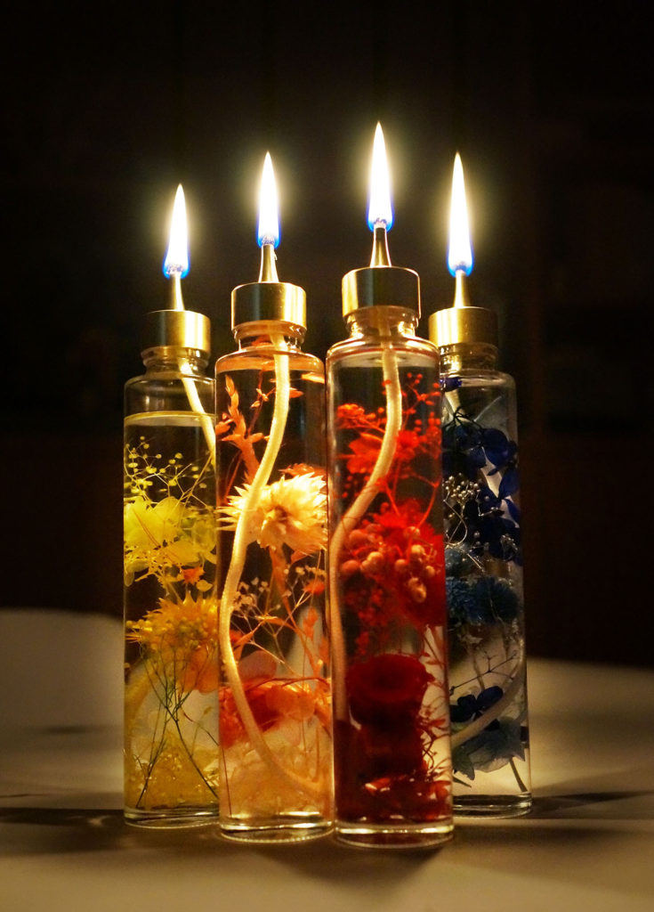 flower candle on