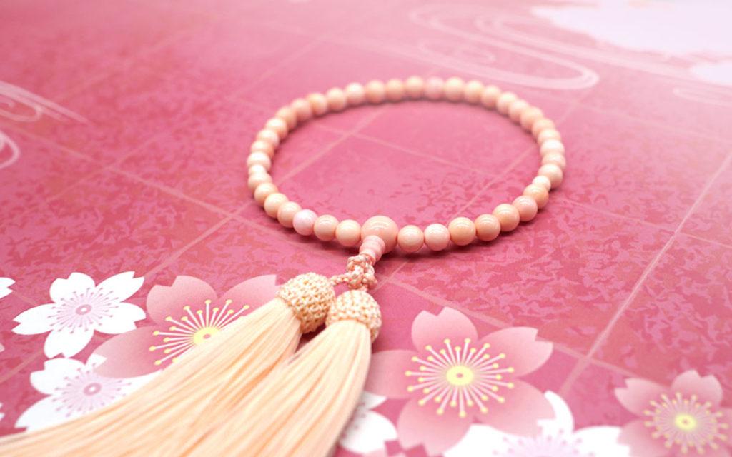 桜貝数珠女性用