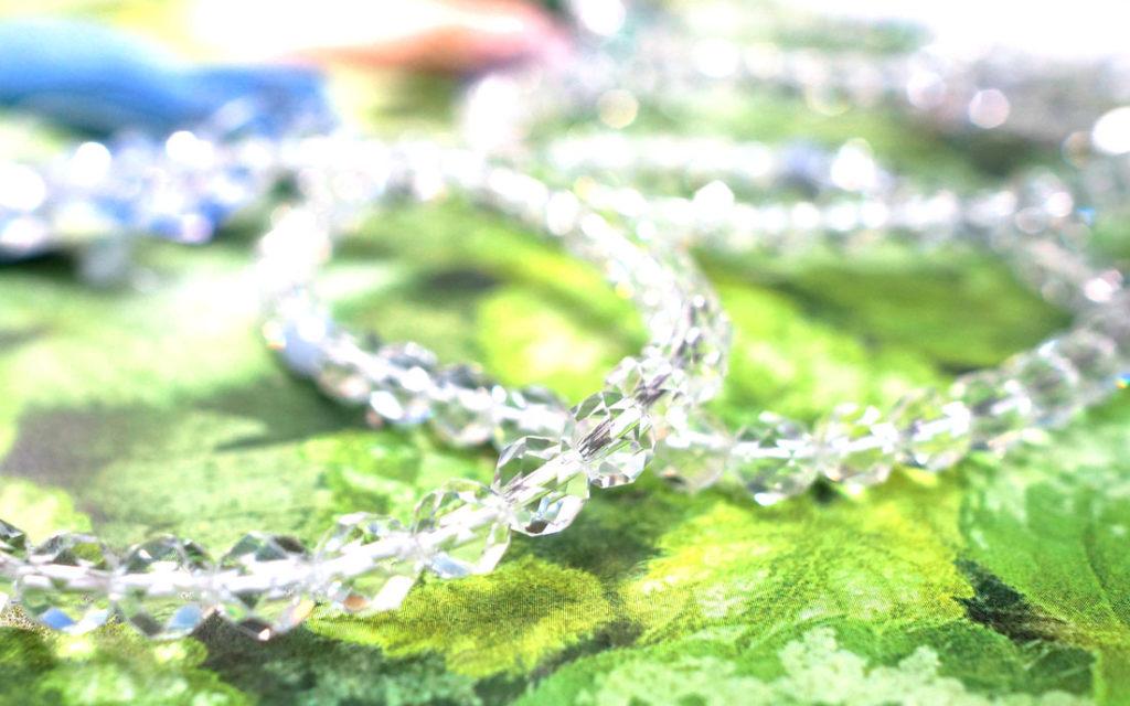 天然切子水晶数珠